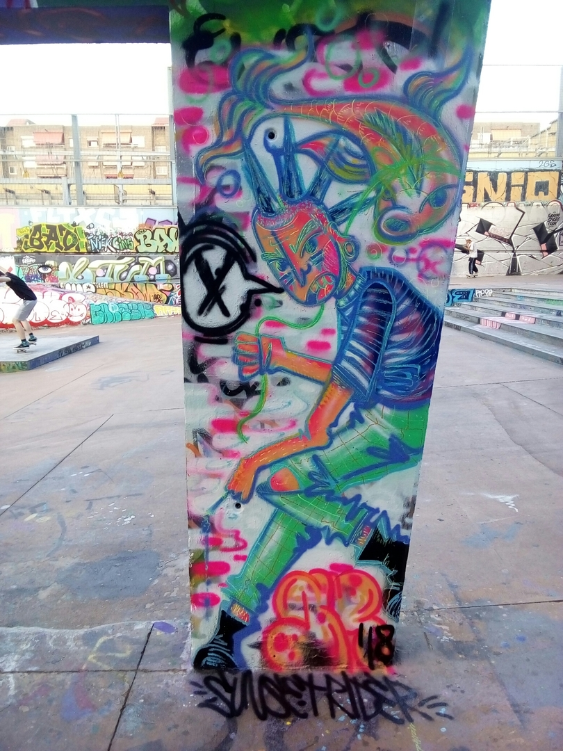 Wallspot - sunset rider - little rascals - Barcelona - CUBE tres xemeneies - Graffity - Legal Walls -