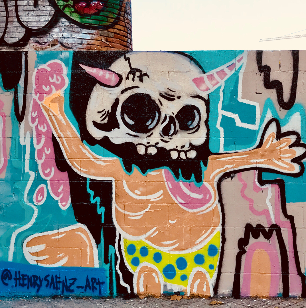 Wallspot - henrysaenz -  - Barcelona - Poble Nou - Graffity - Legal Walls - Illustration