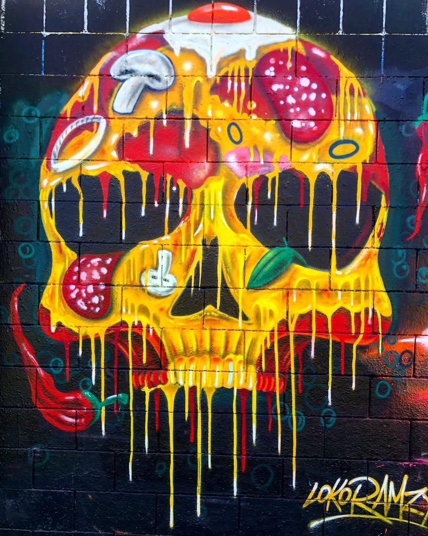 Wallspot - BCN Urban Art - Chef Ramzy en els Jardins Walter Benjamin - Barcelona - Drassanes - Graffity - Legal Walls - Il·lustració