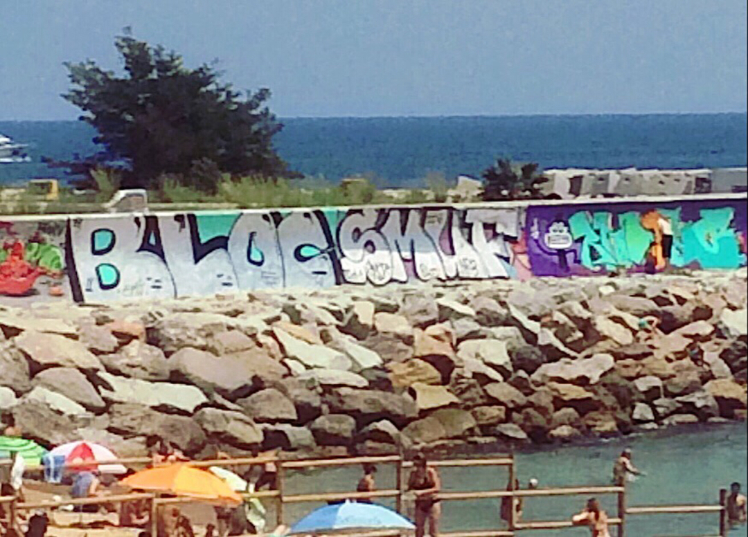 Wallspot - bloc -  - Barcelona - Forum beach - Graffity - Legal Walls - Letters