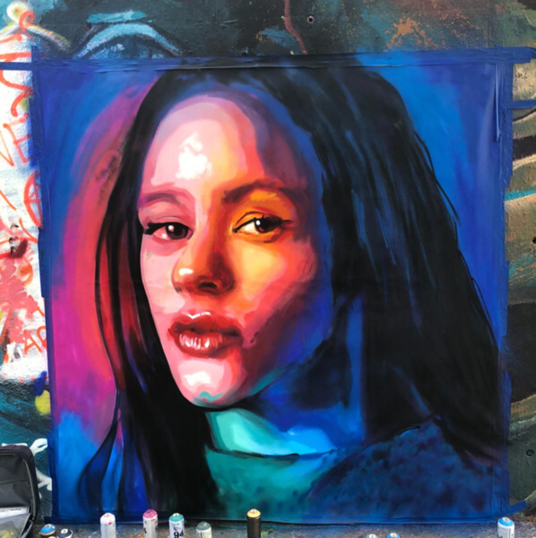 Wallspot - BCN Urban Art - Axe Colours al parc de les tres xemeneies  - Barcelona - Tres Xemeneies - Graffity - Legal Walls - Ilustración - Artist - AXE COLOURS