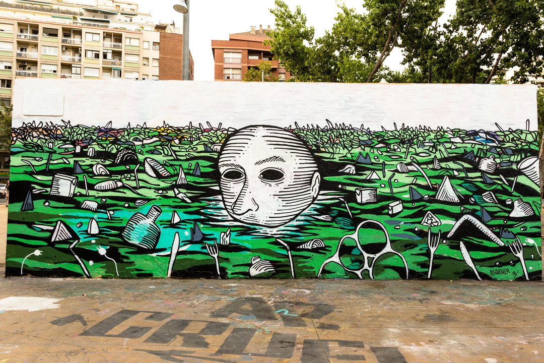 Wallspot - JOAN PIÑOL - DISAIKNER - Barcelona - Tres Xemeneies - Graffity - Legal Walls -  - Artist - disaikner