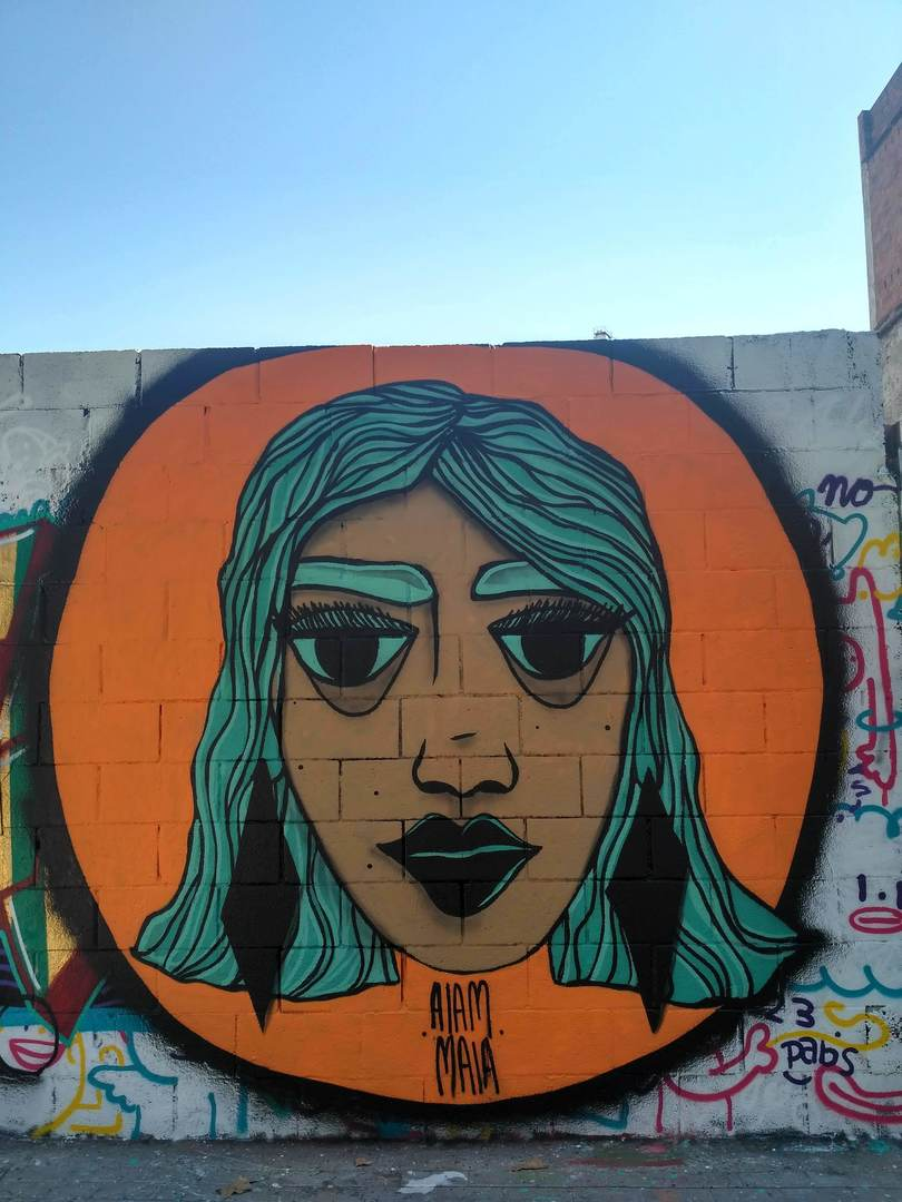 Wallspot - evalop - evalop - Proyecto 26/07/2018 - Barcelona - Poble Nou - Graffity - Legal Walls - Illustration - Artist - aiam maia