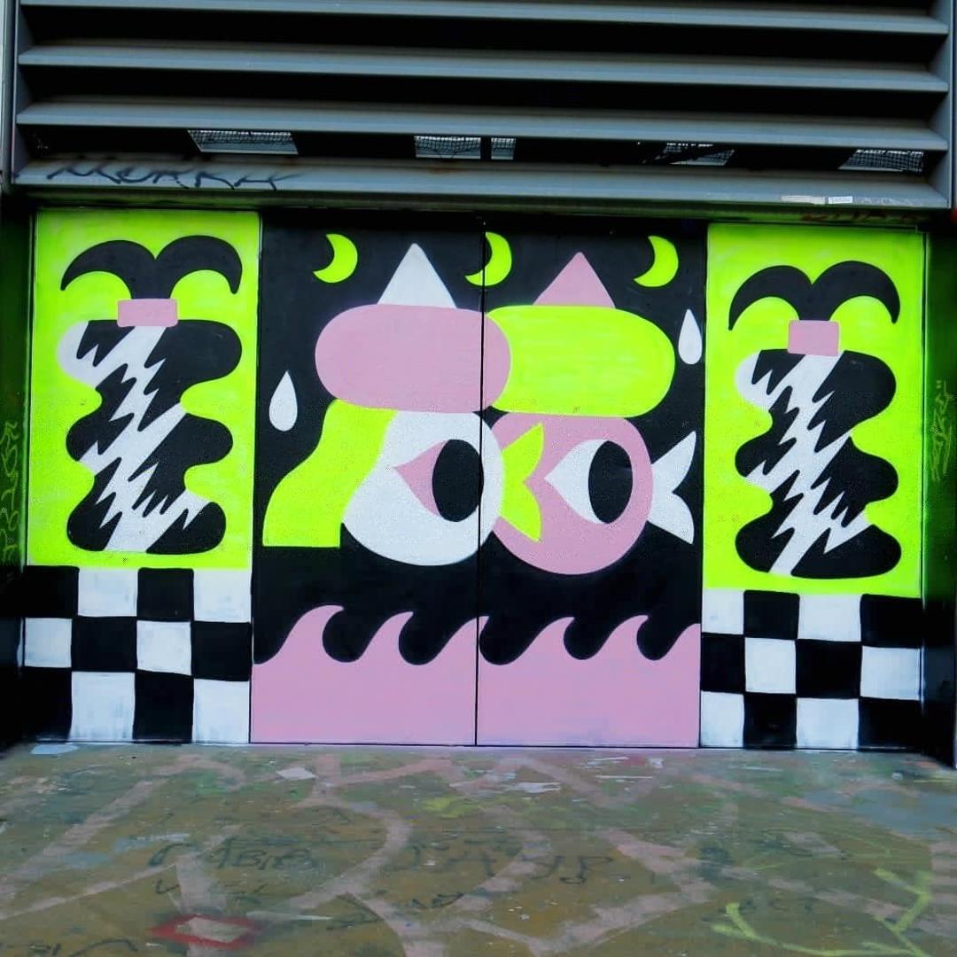Wallspot - Osier Luther - <3 - Barcelona - Tres Xemeneies - Graffity - Legal Walls - Ilustración