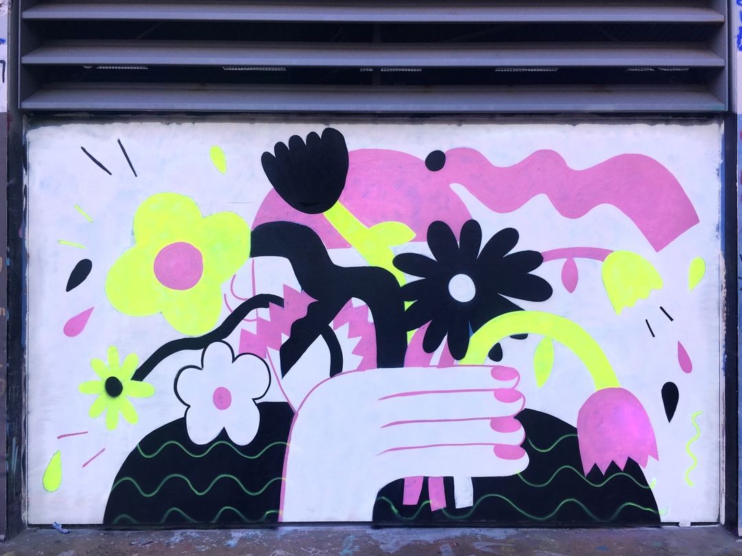 Wallspot - EmilyE - Tres Xemeneies - EmilyE - Barcelona - Tres Xemeneies - Graffity - Legal Walls - Ilustración
