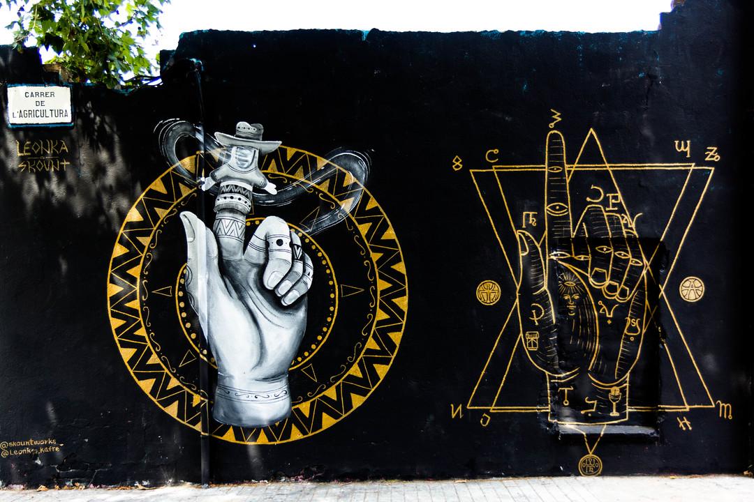 Wallspot - JOAN PIÑOL - LEONKA I SKOUNT - Barcelona - Agricultura - Graffity - Legal Walls - Il·lustració