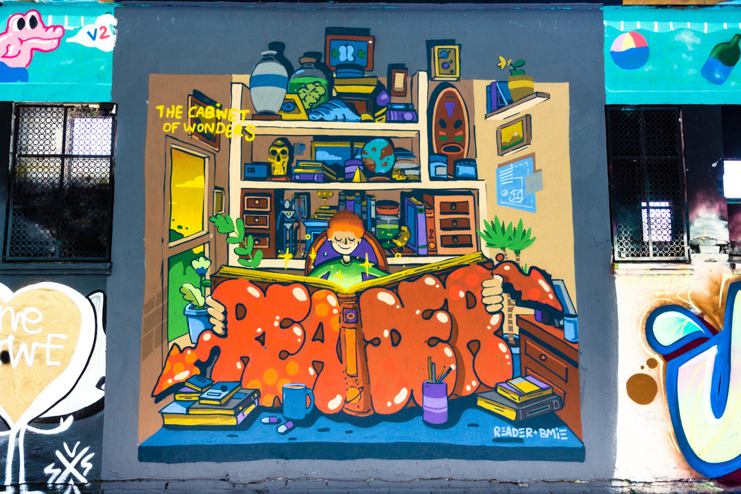 Wallspot - JOAN PIÑOL - READER - BMIE - Barcelona - Agricultura - Graffity - Legal Walls -