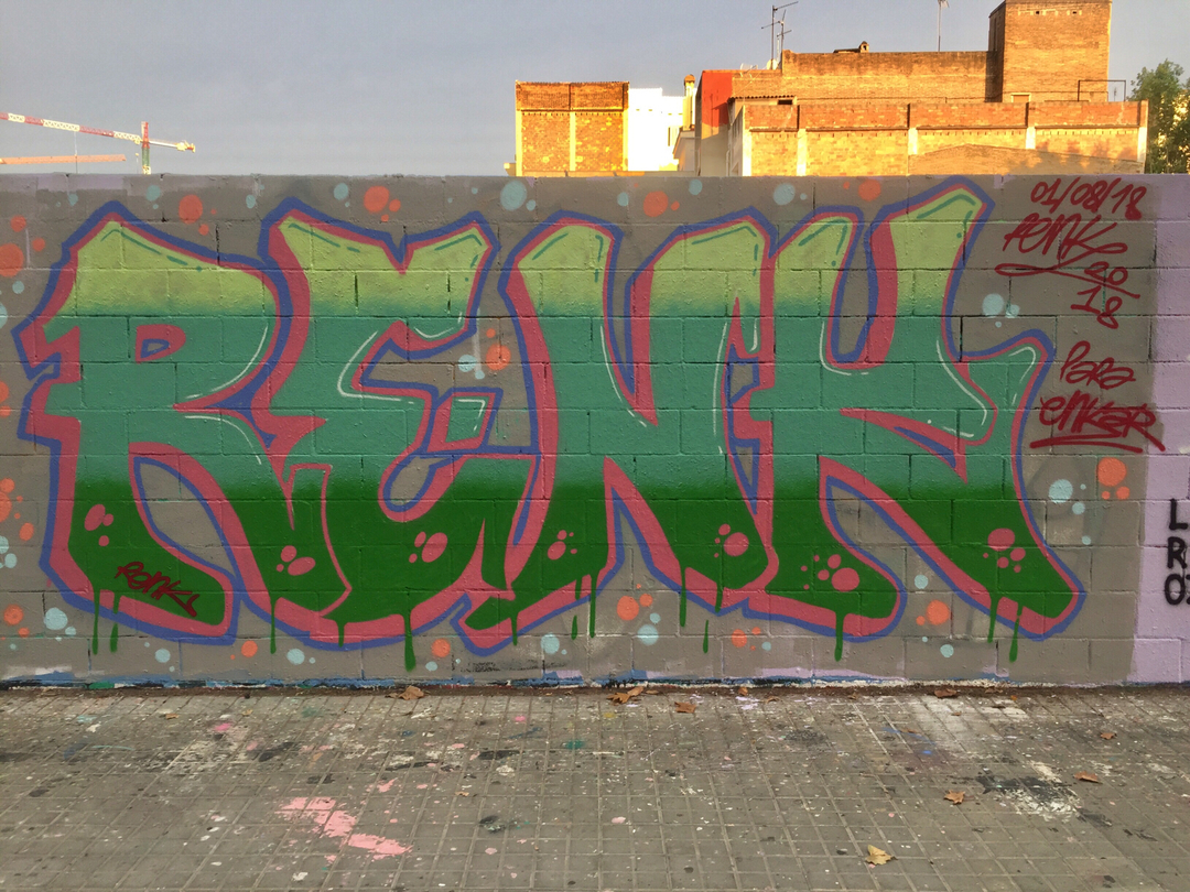 Wallspot - Renk_graff -  - Barcelona - Poble Nou - Graffity - Legal Walls -