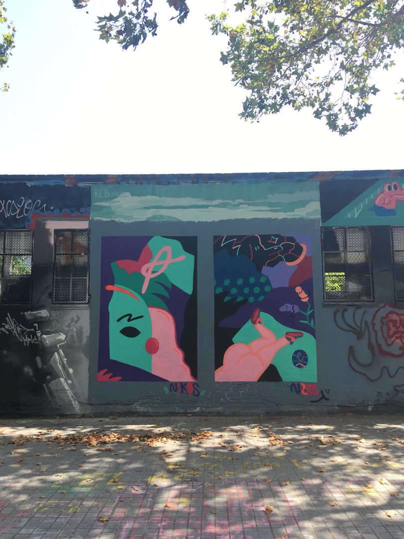 Wallspot - V2M -  - Barcelona - Selva de Mar - Graffity - Legal Walls - Il·lustració