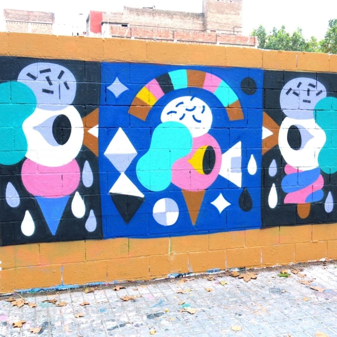 Wallspot - Osier Luther - Poble Nou - Barcelona - Poble Nou - Graffity - Legal Walls - Il·lustració