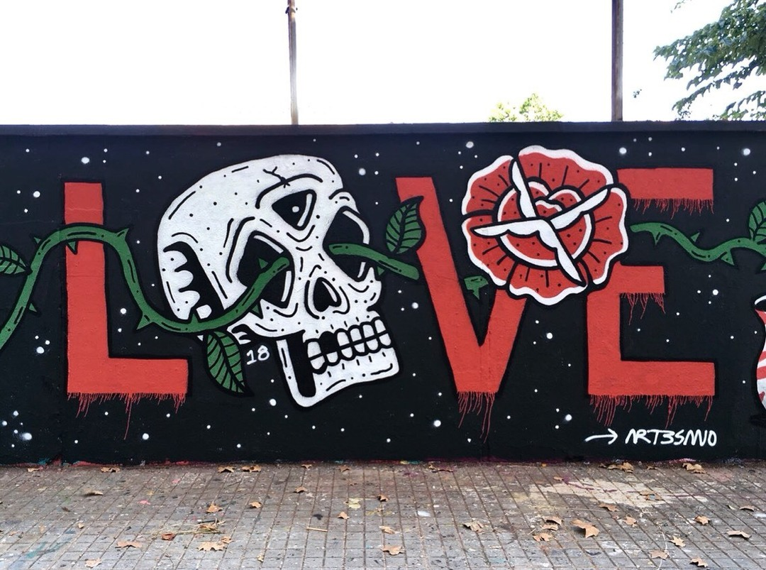 Wallspot - art3sano - L O V E - Barcelona - Agricultura - Graffity - Legal Walls - ,