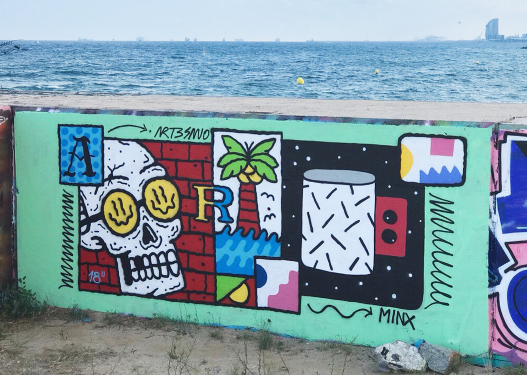 Wallspot - art3sano - Forum beach - Barcelona - Forum beach - Graffity - Legal Walls - , ,