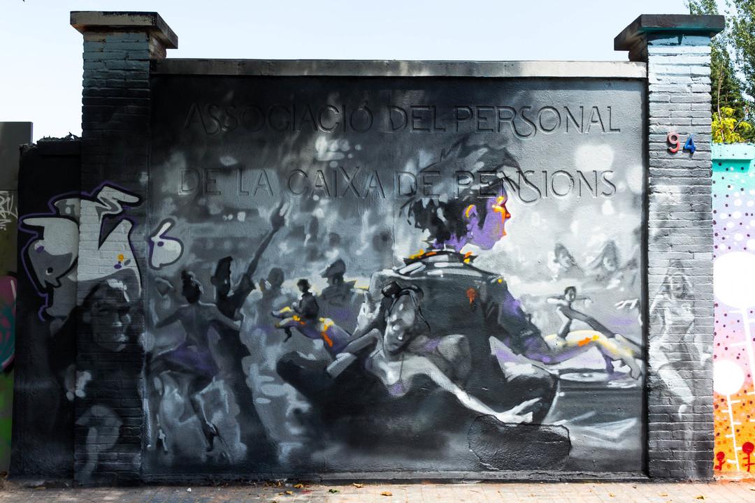 Wallspot - JOAN PIÑOL - REB.MWC - Barcelona - Agricultura - Graffity - Legal Walls - Illustration