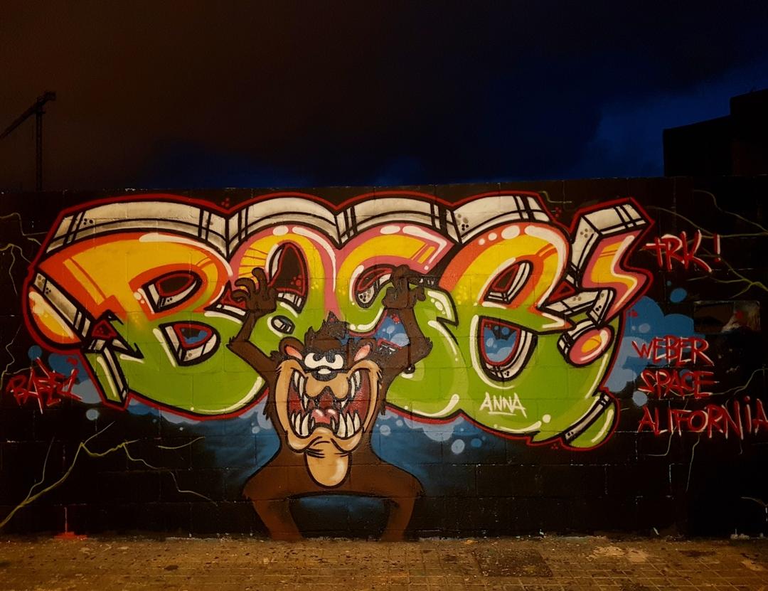 Wallspot - mark -  - Barcelona - Poble Nou - Graffity - Legal Walls -