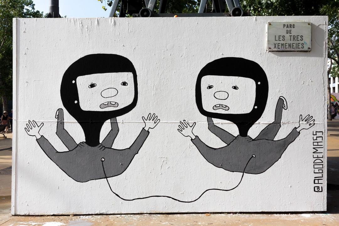 Wallspot - JOAN PIÑOL - ALGODEMASS - Barcelona - Tres Xemeneies - Graffity - Legal Walls - Illustration - Artist - algodemass
