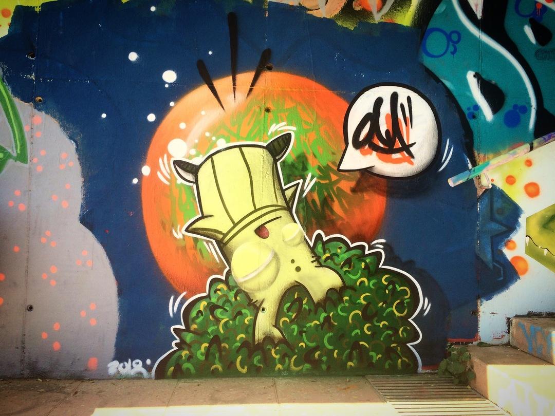 Wallspot - ONA - Mas Guinardó - ONA - Barcelona - Mas Guinardó - Graffity - Legal Walls - Lletres, Il·lustració, Altres