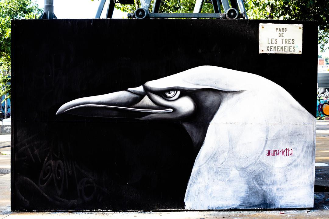 Wallspot - JOAN PIÑOL - ANAMARIETTA - Barcelona - Tres Xemeneies - Graffity - Legal Walls - Illustration - Artist - Anamarietta