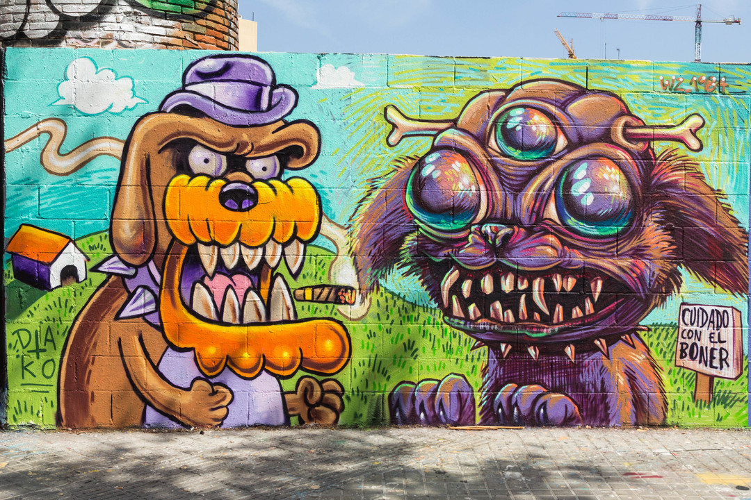 Wallspot - JOAN PIÑOL - DAKO - Barcelona - Poble Nou - Graffity - Legal Walls - Illustration - Artist - Dako
