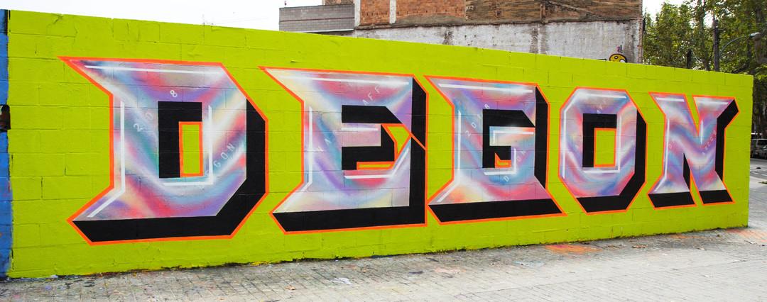 Wallspot - JOAN PIÑOL - DEGON - Barcelona - Poble Nou - Graffity - Legal Walls - Letters - Artist - degon
