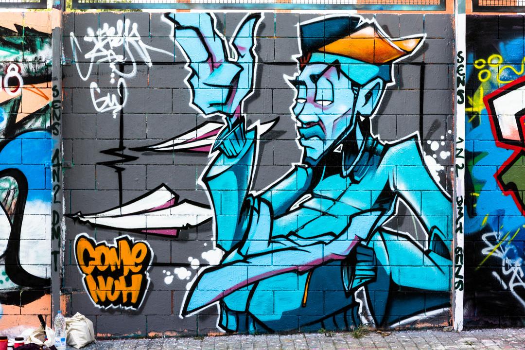 Wallspot - JOAN PIÑOL - JOAN PIÑOL - Projecte 30/09/2018 - Barcelona - Drassanes - Graffity - Legal Walls - Illustration