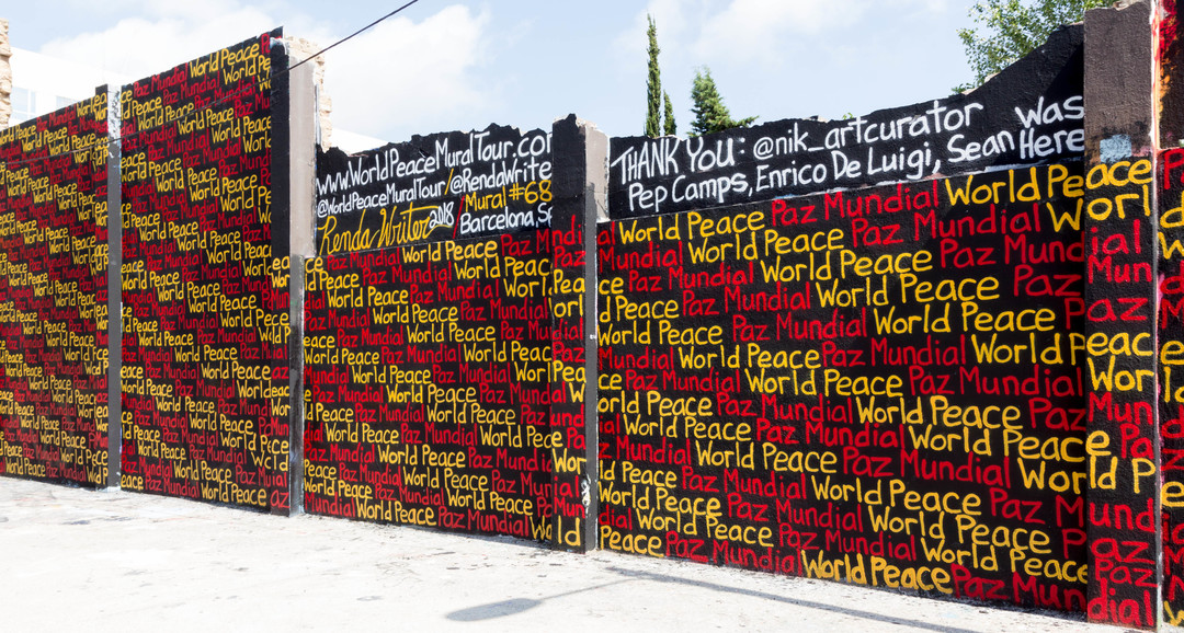 JOAN PIÑOL - WORLD PEACE MURAL TOURE