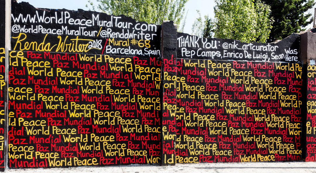 JOAN PIÑOL - WORLD PEACE MURAL TOURE