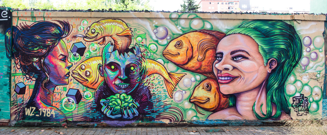 Wallspot - JOAN PIÑOL - WZ_1984 I DERZ - Barcelona - Agricultura - Graffity - Legal Walls - Illustration