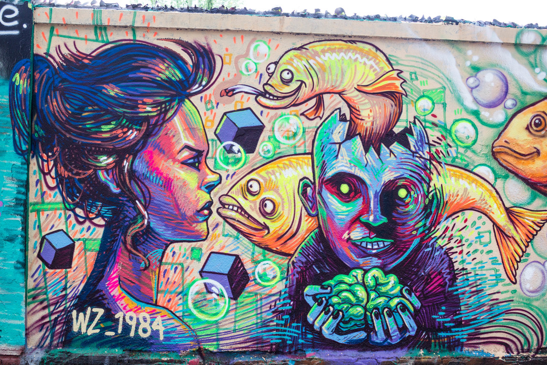 Wallspot - JOAN PIÑOL - WZ_1984 I DERZ - Barcelona - Agricultura - Graffity - Legal Walls - Illustration