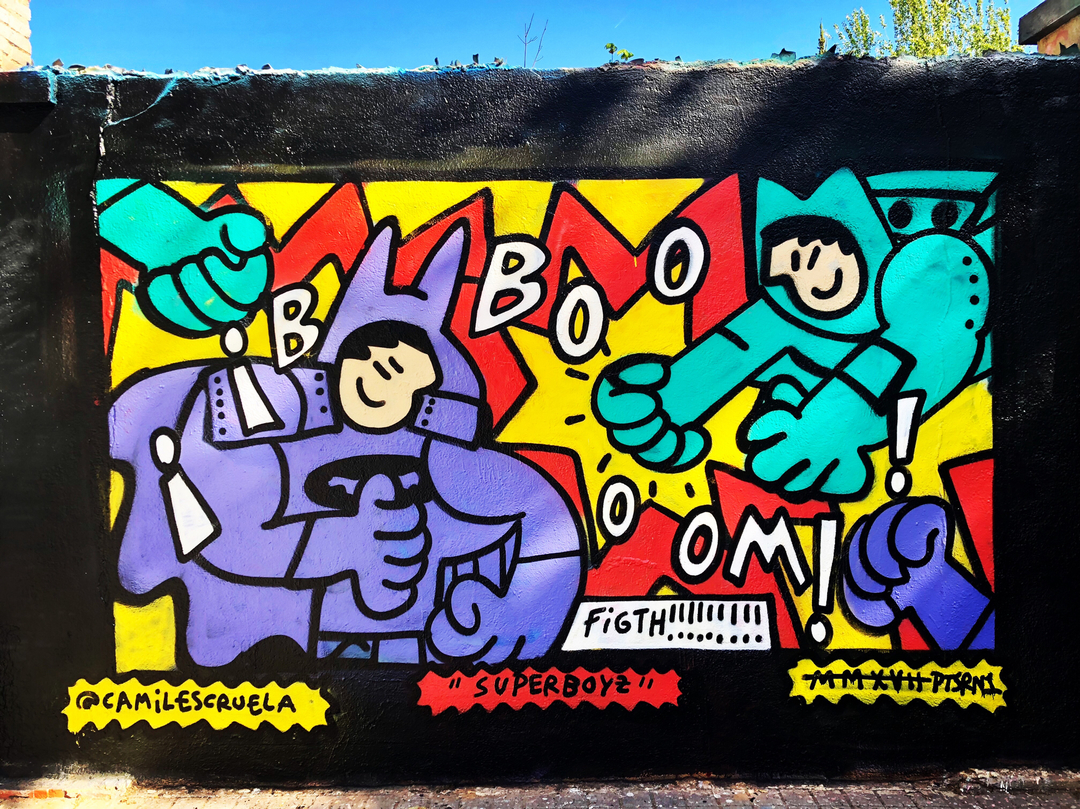Wallspot - kamil escruela - superboyz - Barcelona - Agricultura - Graffity - Legal Walls - Illustration, Others