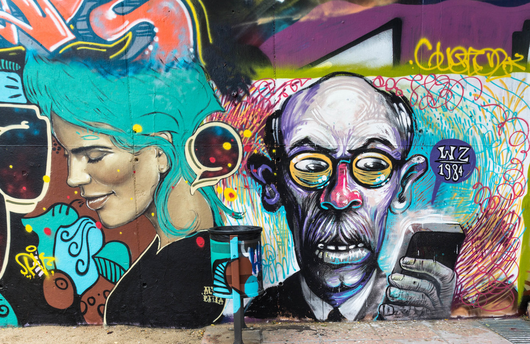 Wallspot - JOAN PIÑOL - DERZ i WZ_1984 - Barcelona - Agricultura - Graffity - Legal Walls -