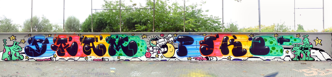 Wallspot - kamil escruela - galactic graff paco dam kamil - Barcelona - Agricultura - Graffity - Legal Walls - Illustration, Others