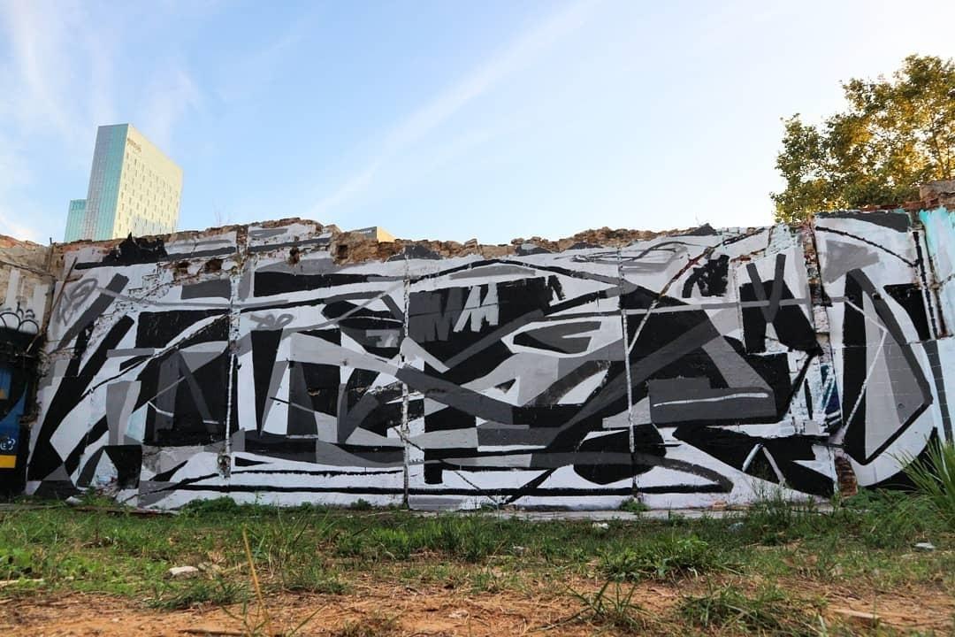 Wallspot - senyorerre3 - Art ALBERTO ORDUÑA - Barcelona - Western Town - Graffity - Legal Walls - Il·lustració