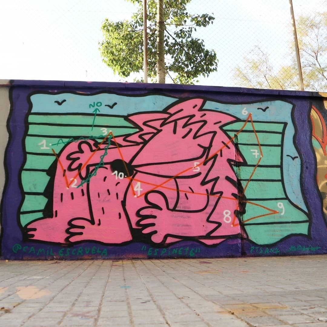 Wallspot - senyorerre3 - Art CAMIL ESCRUELA - Barcelona - Agricultura - Graffity - Legal Walls - Illustration