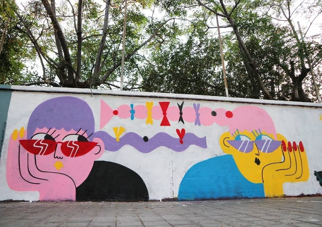 Wallspot - senyorerre3 - Art EMILY ELDRIDGE - Barcelona - Agricultura - Graffity - Legal Walls - Ilustración