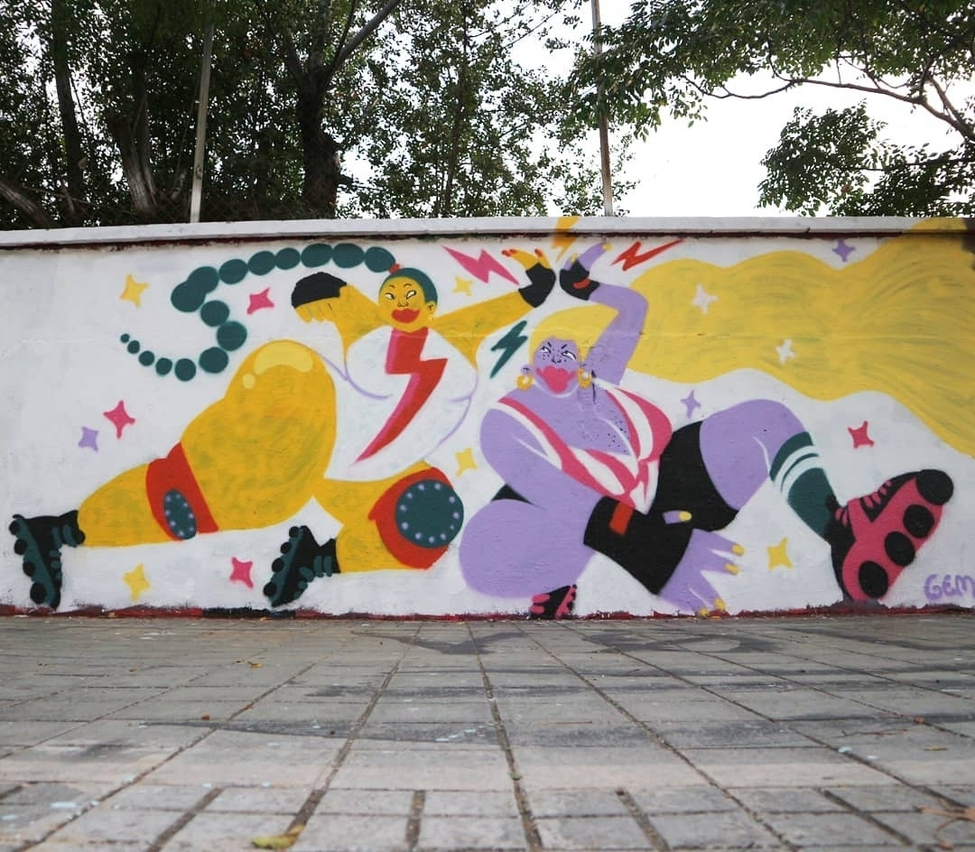 Wallspot - senyorerre3 - Art GEMMA FONTANALS - Barcelona - Agricultura - Graffity - Legal Walls -