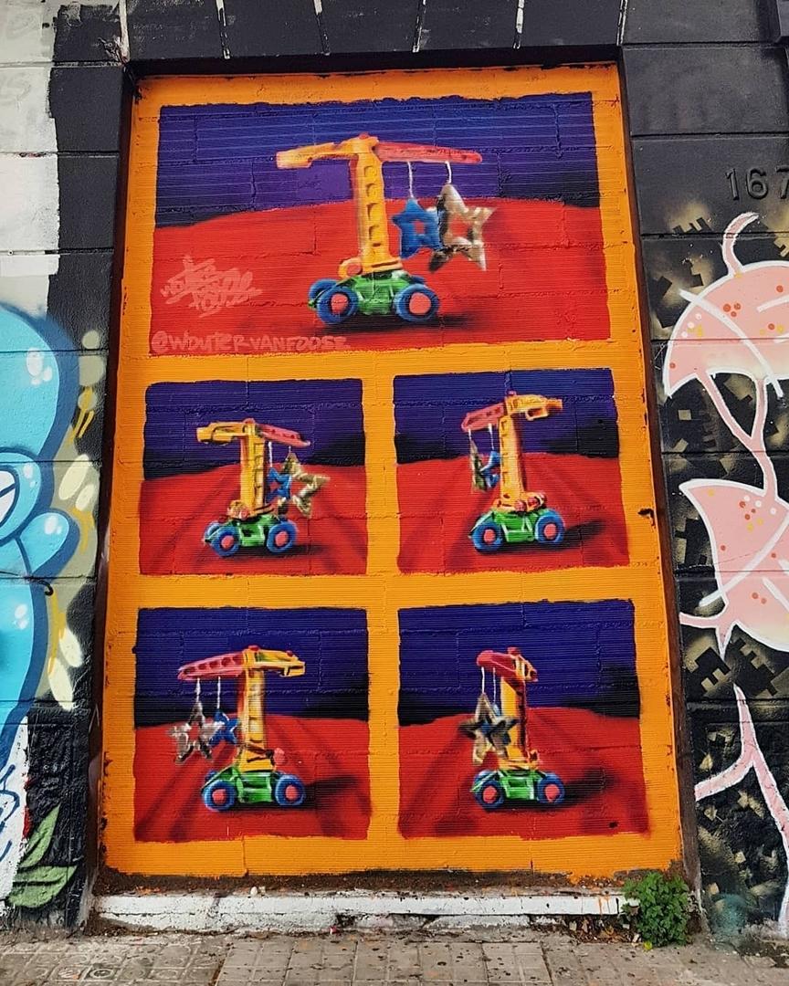 Wallspot - senyorerre3 - Art FOOSE - Barcelona - Western Town - Graffity - Legal Walls - Ilustración