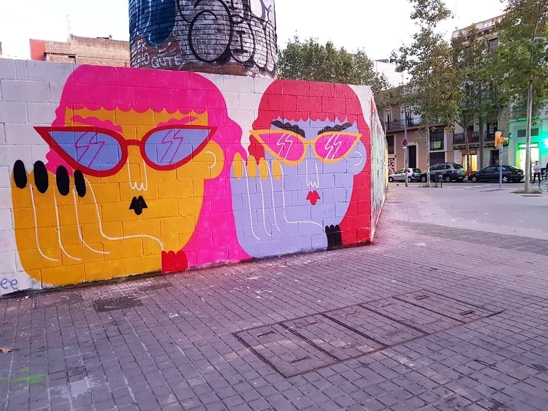 Wallspot - senyorerre3 - Art EMILY ELDRIDGE - Barcelona - Poble Nou - Graffity - Legal Walls - Illustration