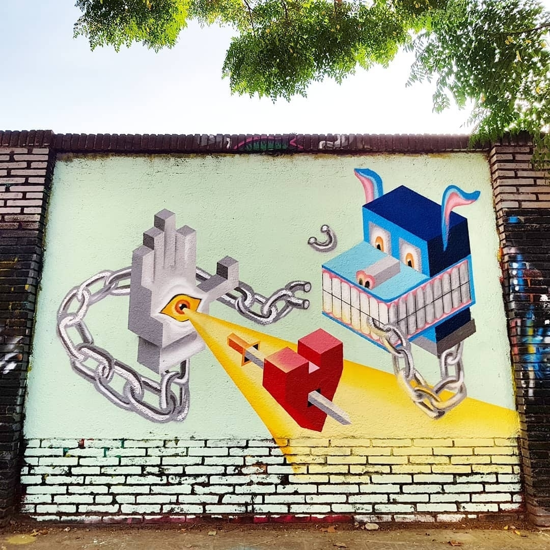 Wallspot - senyorerre3 - Art BEN HUNTER - Barcelona - Selva de Mar - Graffity - Legal Walls -
