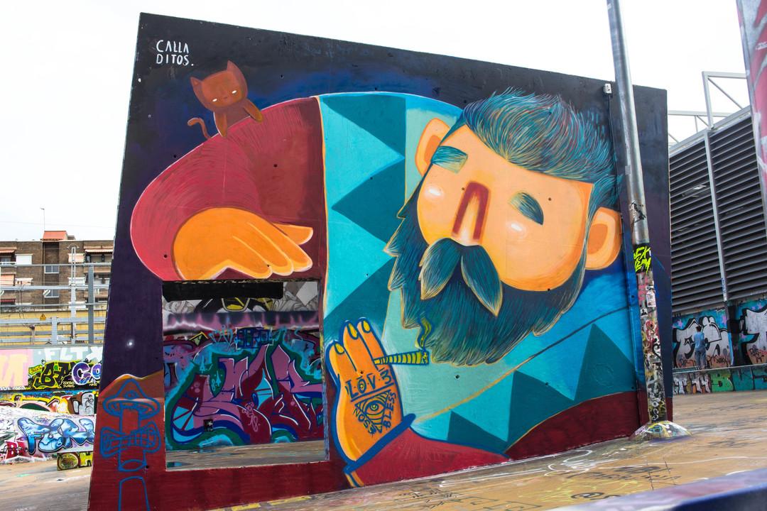 Wallspot - JOAN PIÑOL - CALLA DITOS - Barcelona - Tres Xemeneies - Graffity - Legal Walls - Illustration - Artist - los calladitos