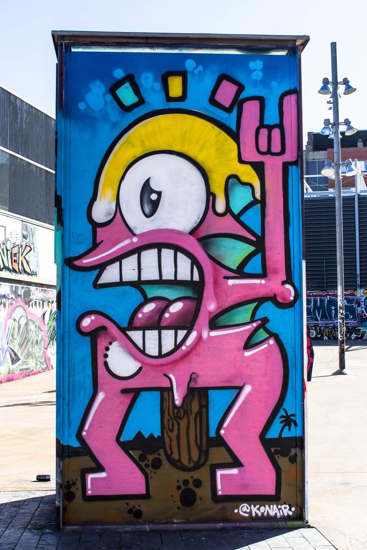 Wallspot - JOAN PIÑOL - KONAIR - Barcelona - Tres Xemeneies - Graffity - Legal Walls - Illustration