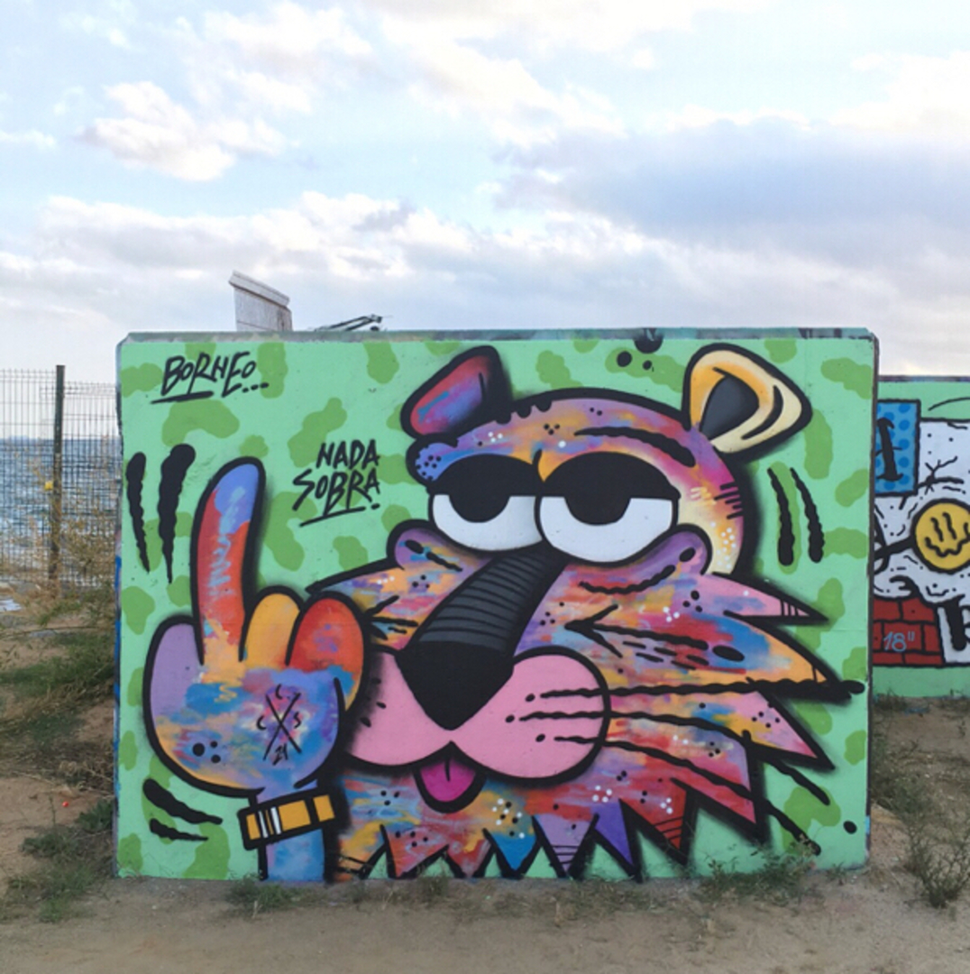 Wallspot - Borneo Modofoker -  - Barcelona - Forum beach - Graffity - Legal Walls -
