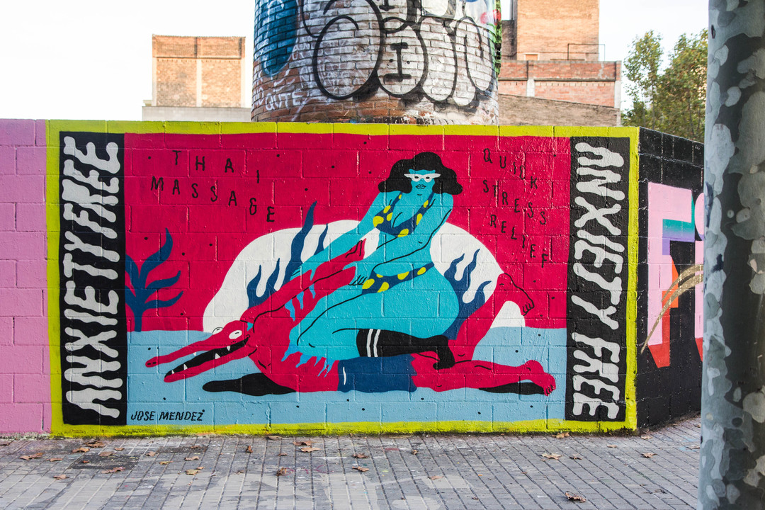 Wallspot - JOAN PIÑOL - JOSÉ MÉNDEZ - Barcelona - Poble Nou - Graffity - Legal Walls - Illustration