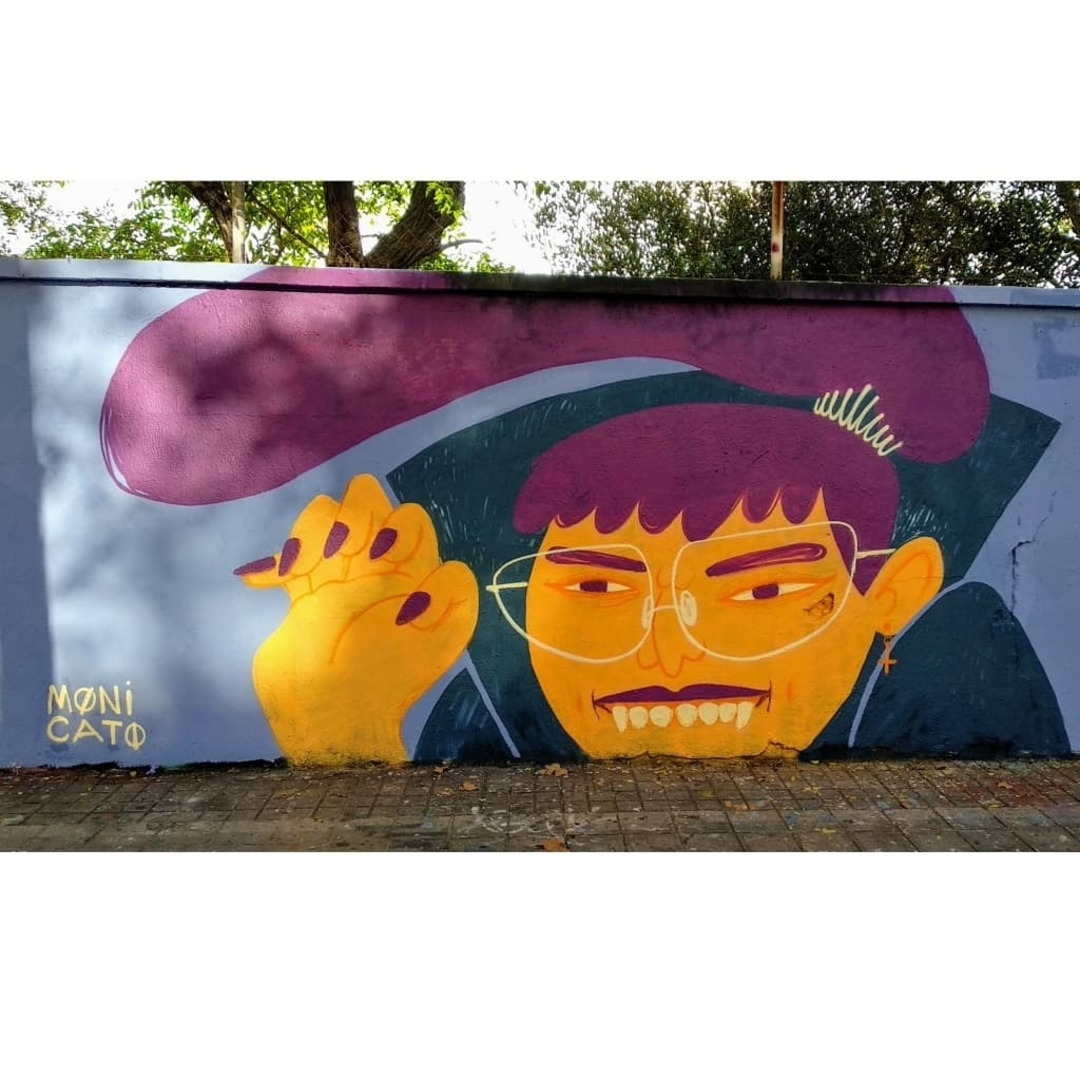 Wallspot - MONI CATO - Vampir - Barcelona - Selva de Mar - Graffity - Legal Walls - Illustration