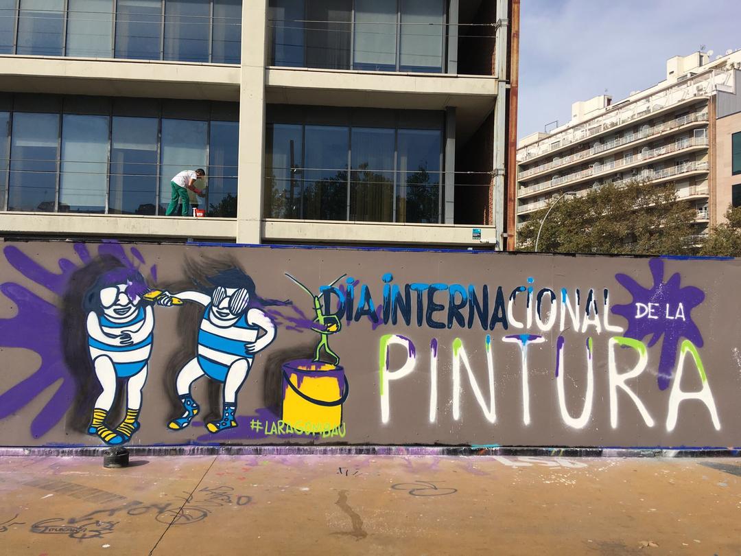 Wallspot - araL - dia internacional pintura - Barcelona - Tres Xemeneies - Graffity - Legal Walls - Lletres, Il·lustració