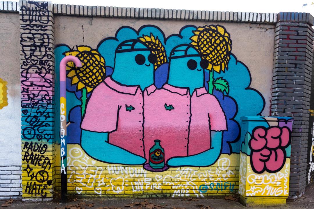Wallspot - JOAN PIÑOL - JOAN PIÑOL - Projecte 29/10/2018 - Barcelona - Western Town - Graffity - Legal Walls - Illustration