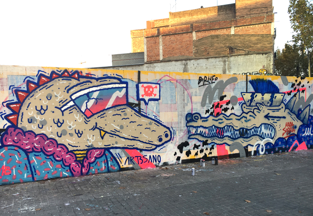 Wallspot - art3sano - Trash Ignorant Style - Barcelona - Poble Nou - Graffity - Legal Walls -