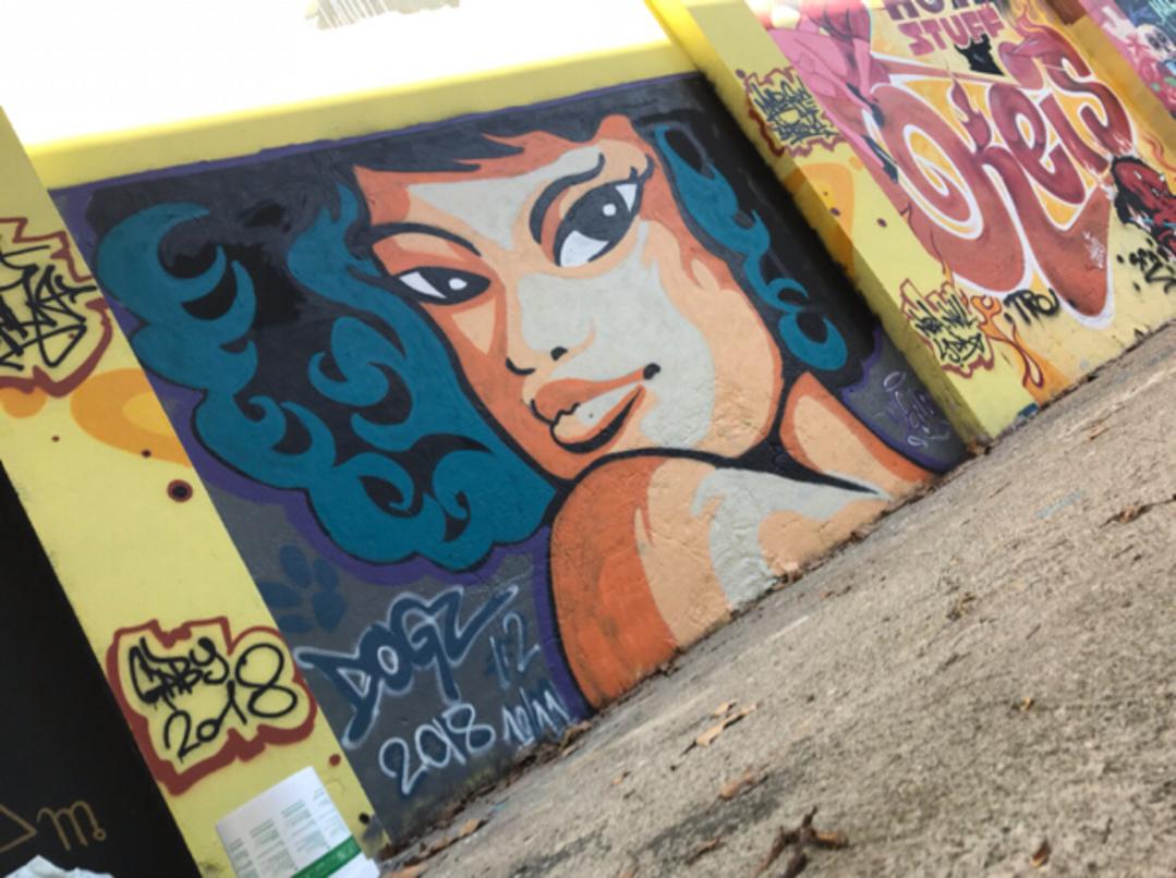 Wallspot - Dogz - Funky vibe - Barcelona - Selva de Mar - Graffity - Legal Walls - Ilustración