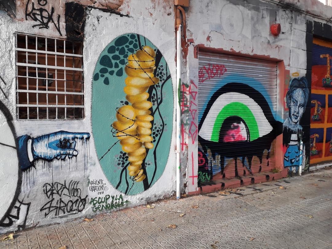 Wallspot - martinmonet - Western Town Cuando el sabio señala la luna, el necio mira el dedo - Barcelona - Western Town - Graffity - Legal Walls - Others