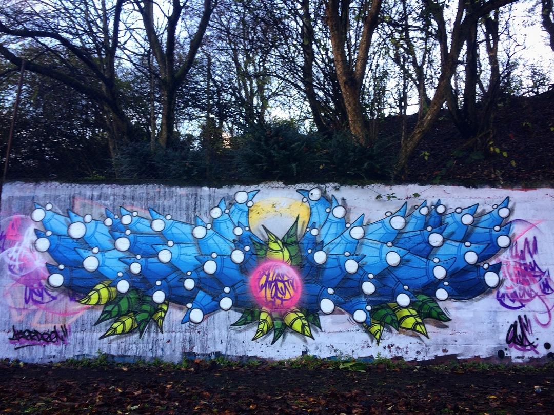 Wallspot - ONA - Sunnybank Park / Throwupgallery - ONA - Aberdeen - Sunnybank Park - Graffity - Legal Walls - Lletres, Il·lustració, Altres
