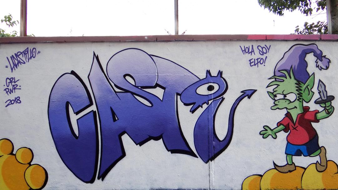 Wallspot - LaCastillo - Hi I'm Elfo! - Barcelona - Agricultura - Graffity - Legal Walls - Letters, Illustration